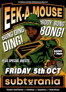 Eek-A-Mouse LIVE at Subterania, London