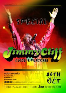 Jimmy Cliff LIVE at Subterania, London