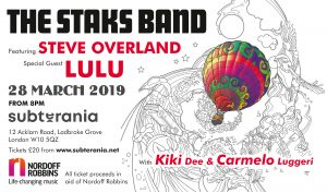 The Staks Band ft. Steve Overland & special guest Lulu LIVE at Subterania, London