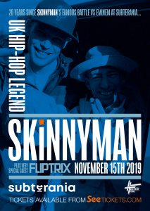 Skinnyman + Fliptrix LIVE at Subterania, London
