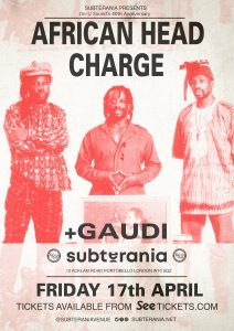 On-U Sound is 40: African Head Charge + Gaudi LIVE at Subterania, London